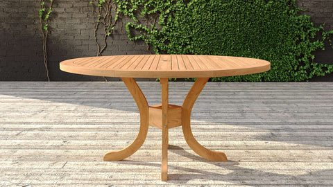 Garden Teak Pedestal Table 150cm (6 Seater)