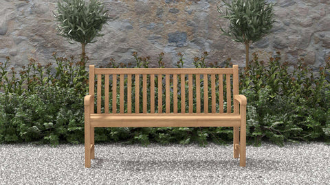 Durham Teak Bench 3 Seater