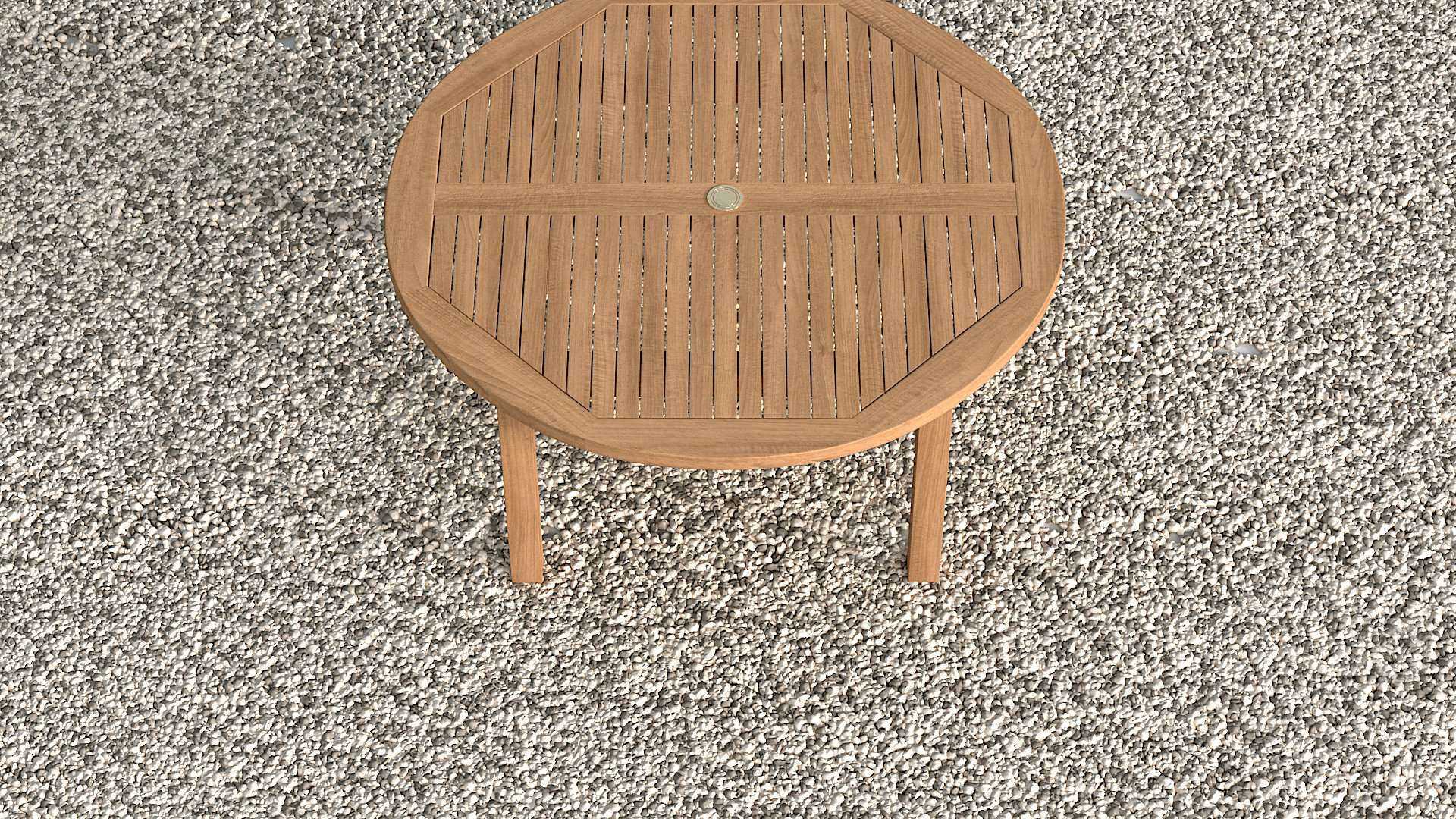 Garden Teak Round Table 150cm (6 Seater)  - Chic Teak® | Luxury Teak Furniture
