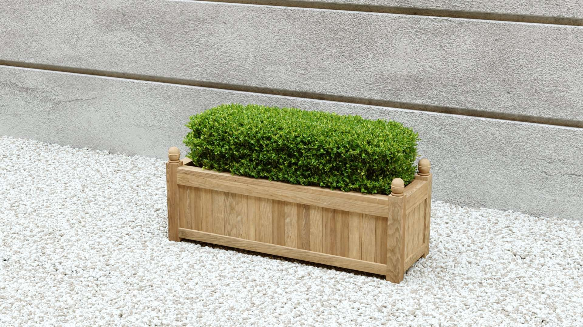 Rectangular Teak Planter  90 x 50 x 45cm  - Chic Teak® | Luxury Teak Furniture