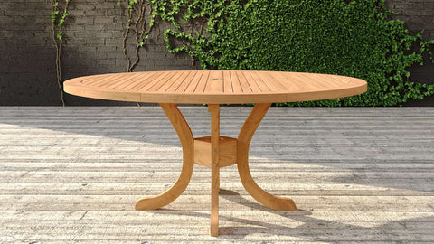 Garden Teak Pedestal Table 165cm (8-10 Seater)