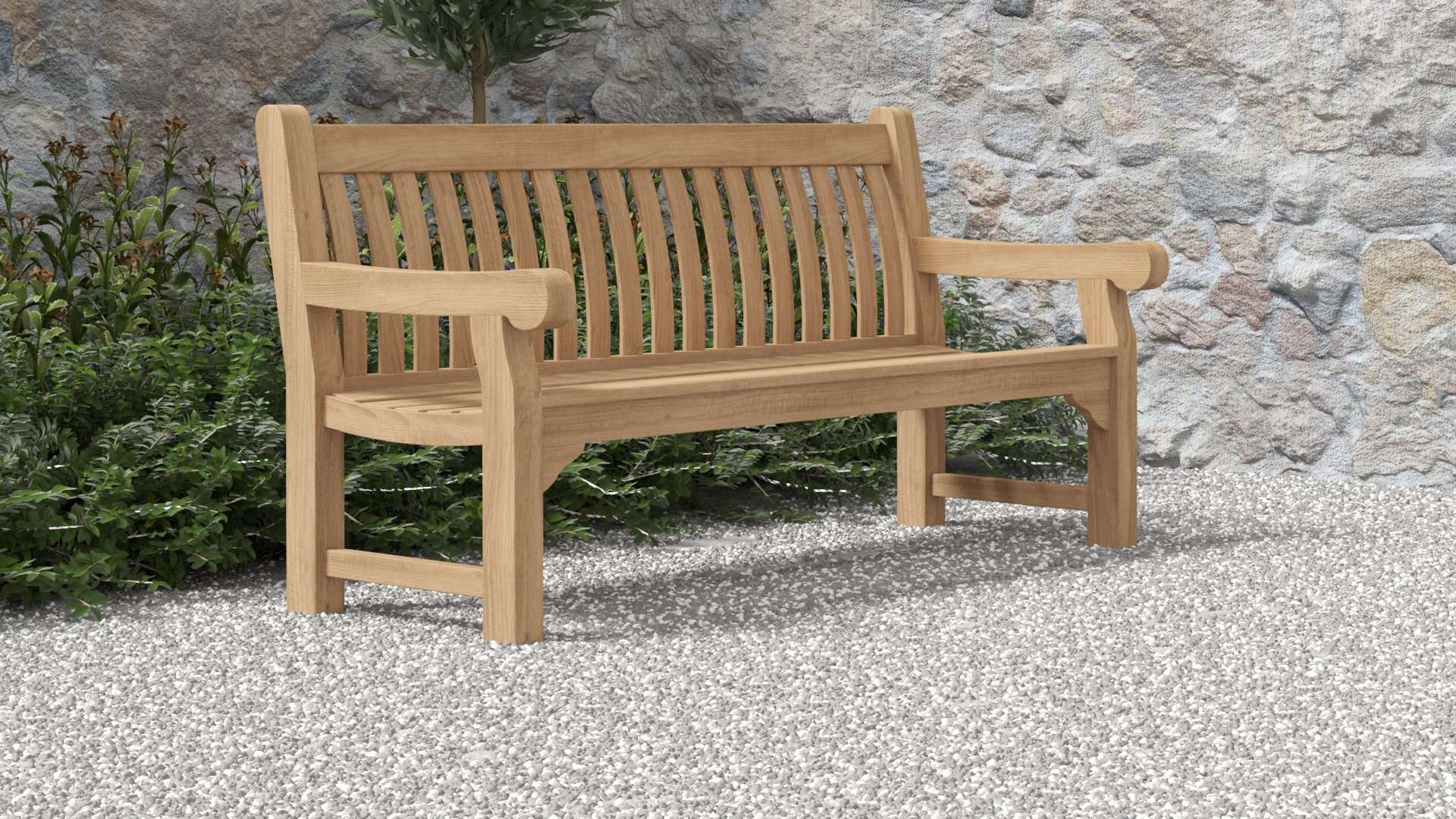 Salisbury Teak Bench 4 Seater  - Chic Teak® | Luxury Teak Furniture