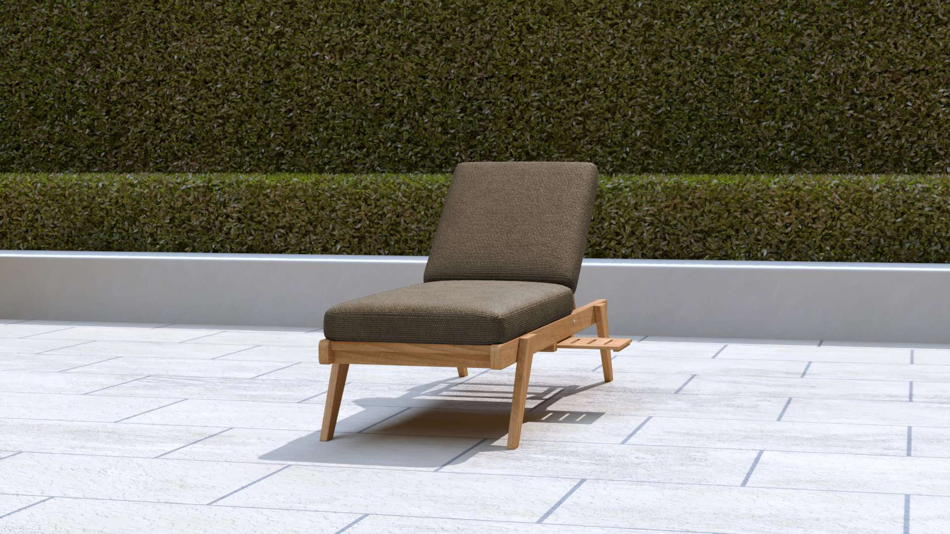Teak Sun Lounger Stackable (Cocoa Cushion)  - Chic Teak® | Luxury Teak Furniture