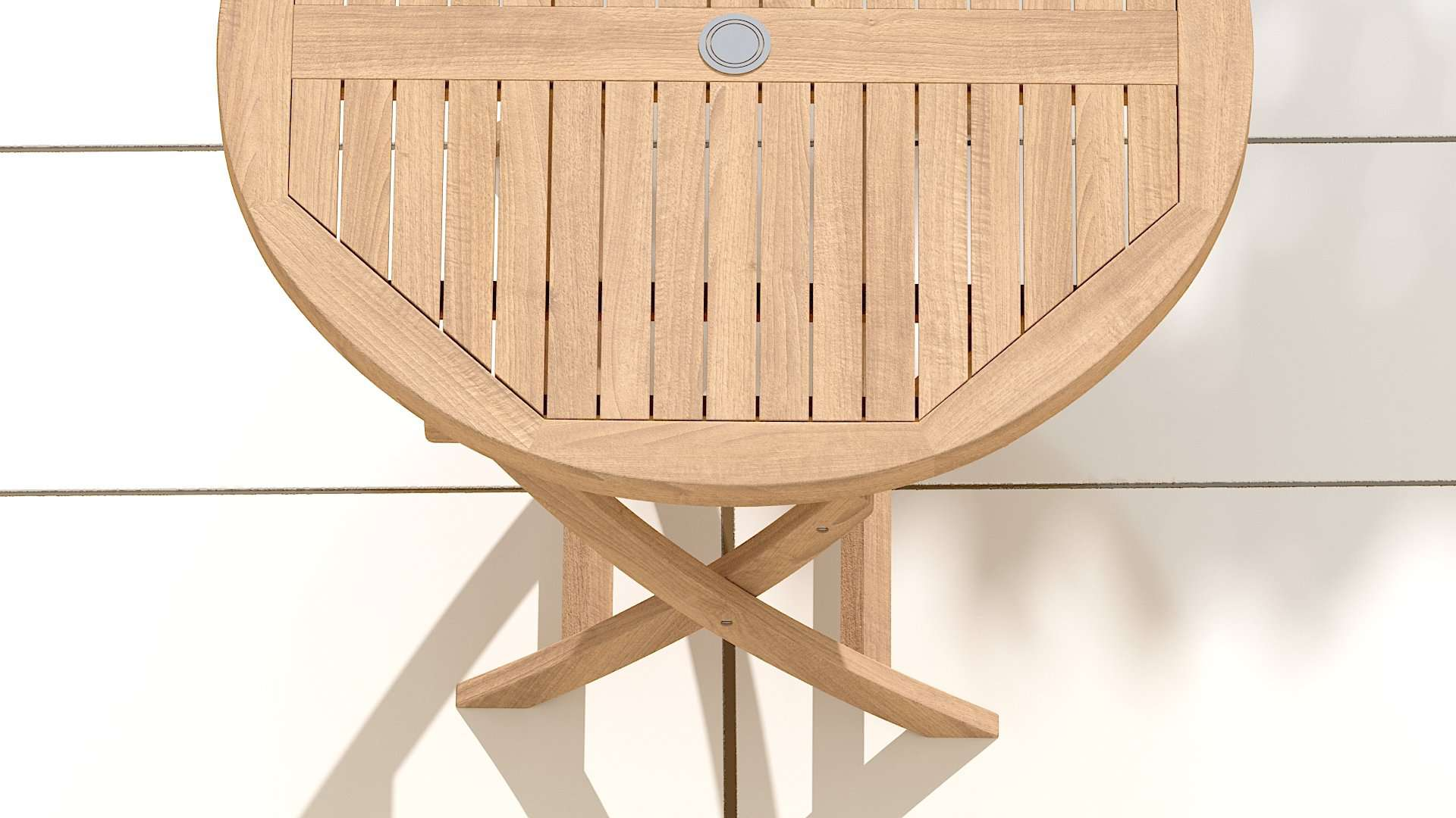 Round Folding Teak Garden Table  - Chic Teak® | Luxury Teak Furniture