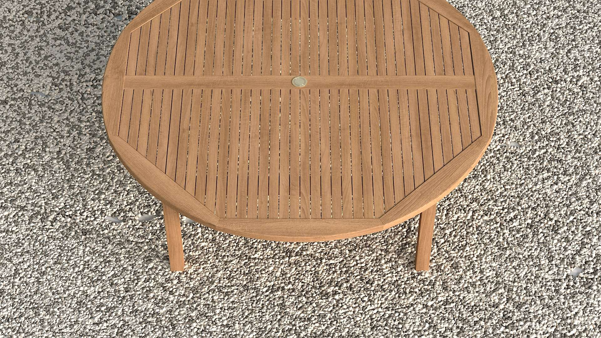 Garden Teak Round Table 210cm (10-12 Seater)  - Chic Teak® | Luxury Teak Furniture