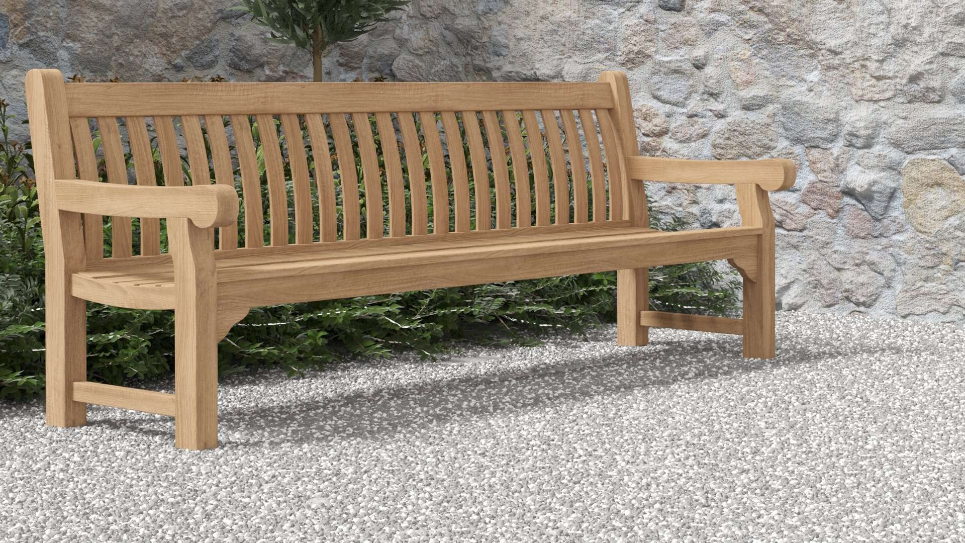 Salisbury Teak Bench 6 Seater  - Chic Teak® | Luxury Teak Furniture