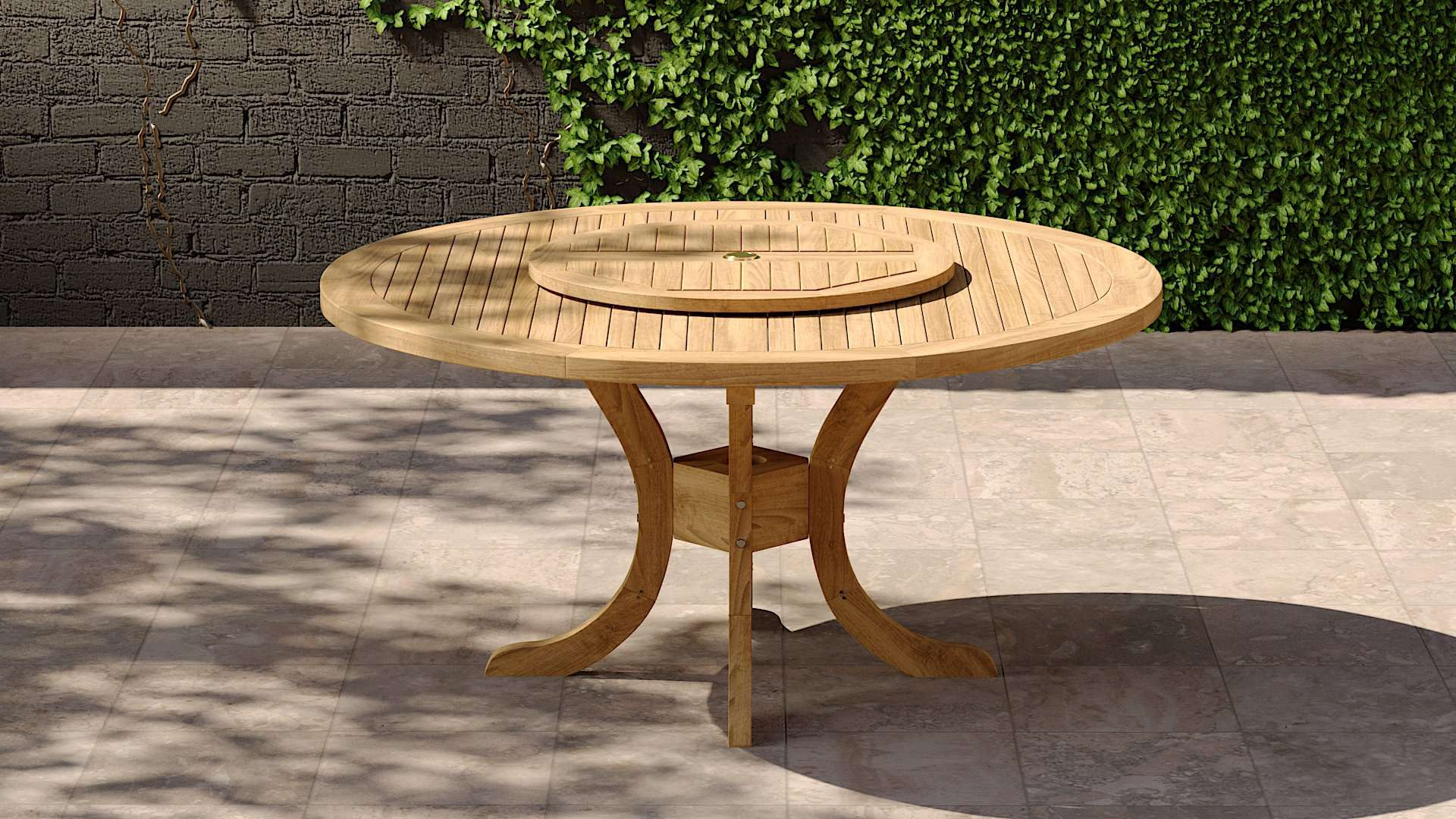 Lazy Susan 75cm  - Chic Teak® | Luxury Teak Furniture