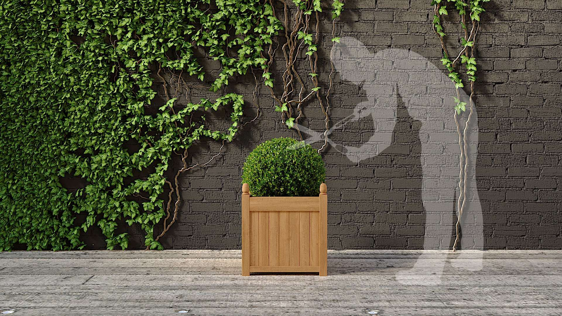 Large Garden Planter 65 x 65cm  - Chic Teak® | Luxury Teak Furniture
