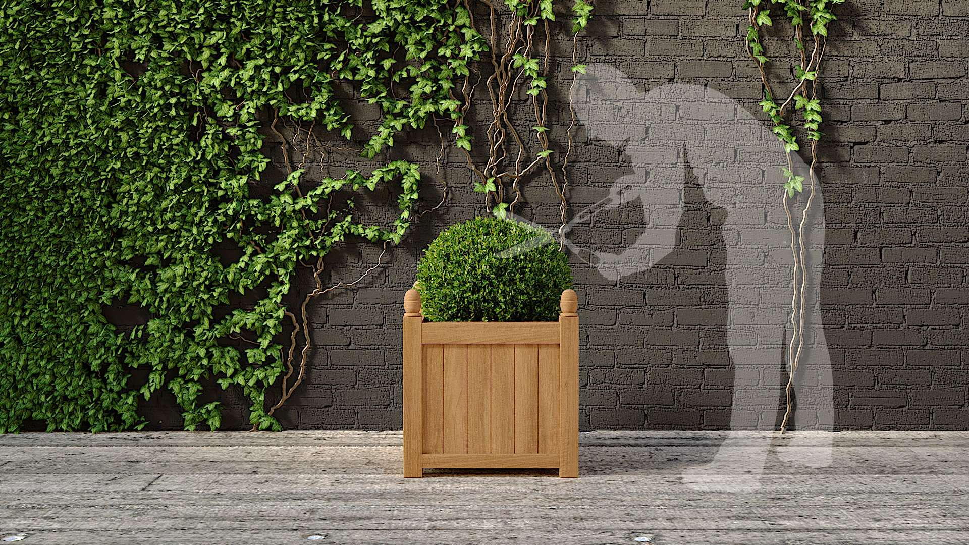 Large Garden Planter 75 x 75cm  - Chic Teak® | Luxury Teak Furniture