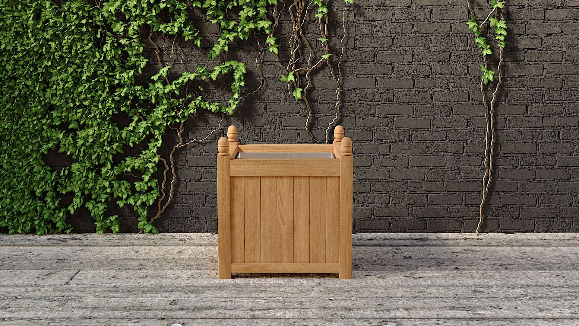 Galvanised Large Garden Planter 75 x 75cm  - Chic Teak® | Luxury Teak Furniture