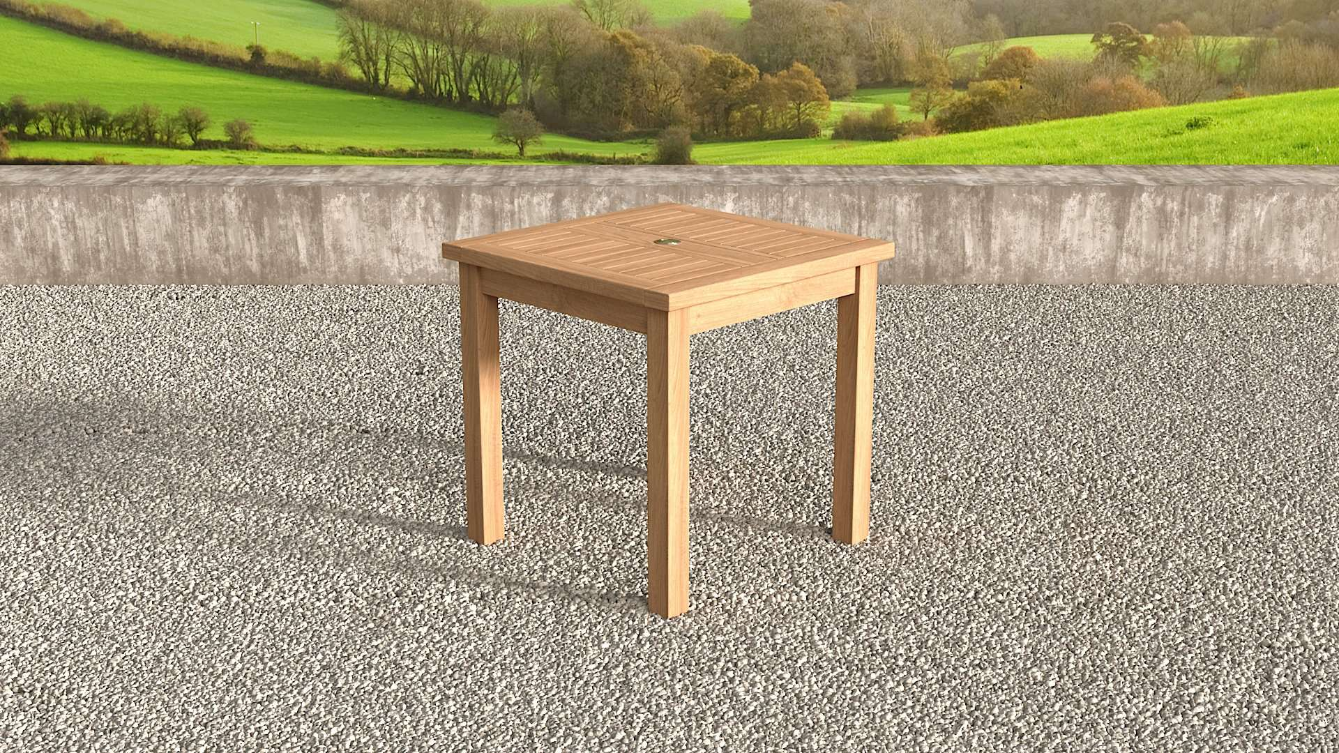 Square Garden Teak Table 90cm (2-4 Seater)  - Chic Teak® | Luxury Teak Furniture