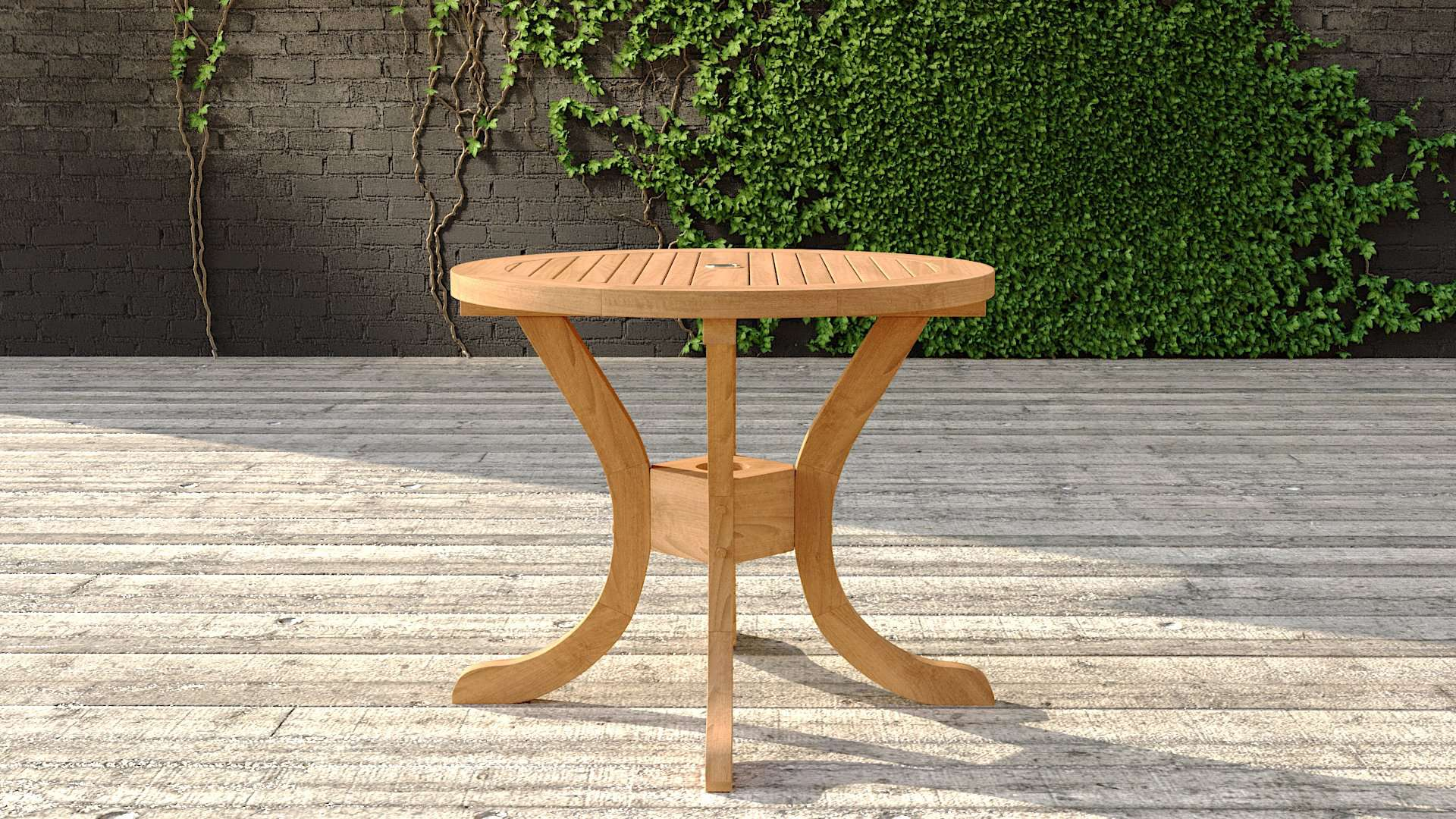Garden Teak Pedestal Table 90cm (2 Seater)  - Chic Teak® | Luxury Teak Furniture