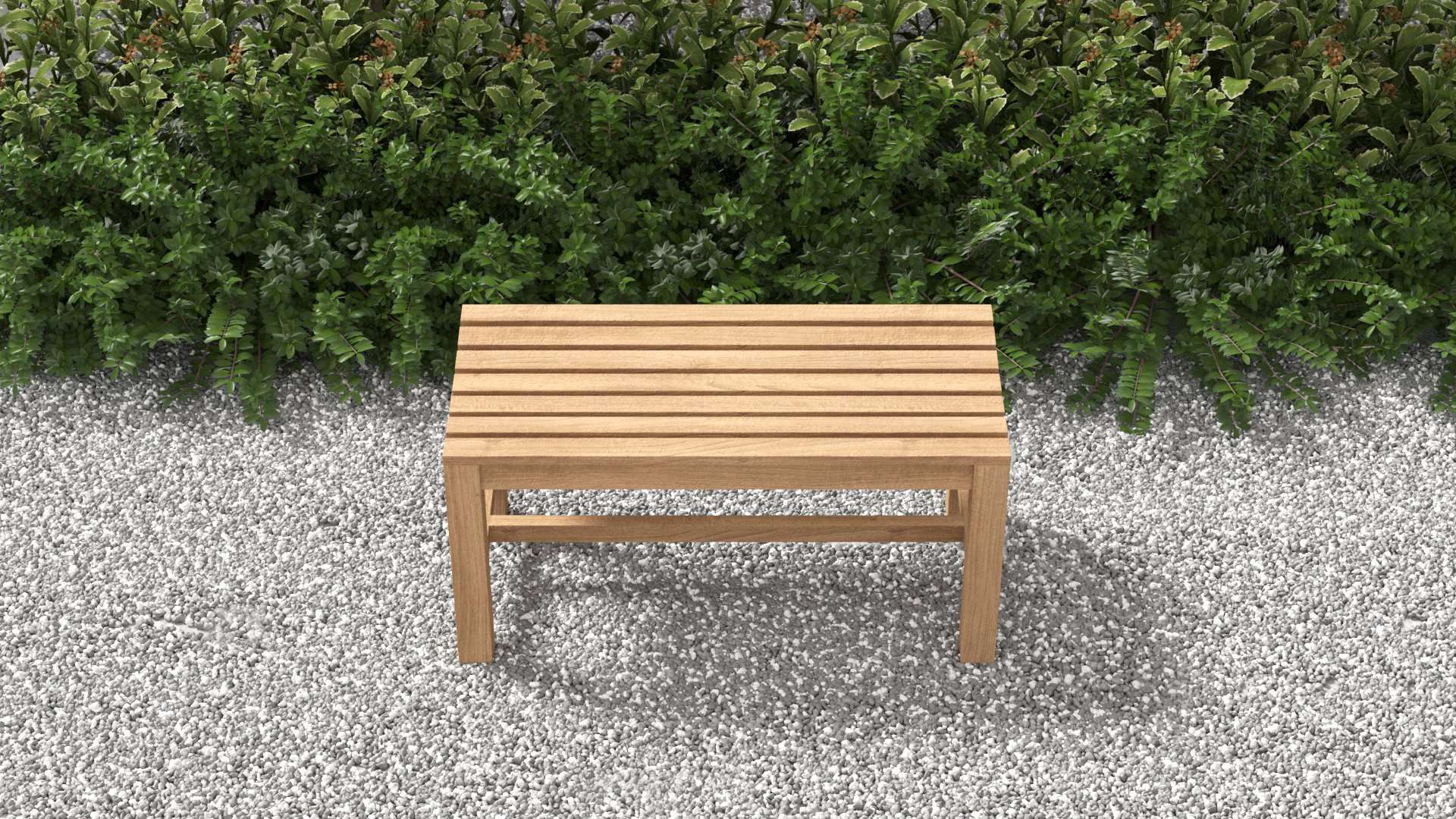 Teak Backless Bench 95cm  - Chic Teak Store