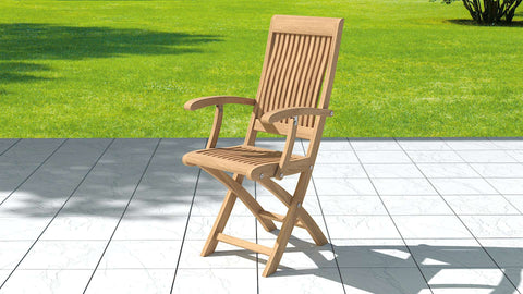 Ripon Teak Folding Carver Chair