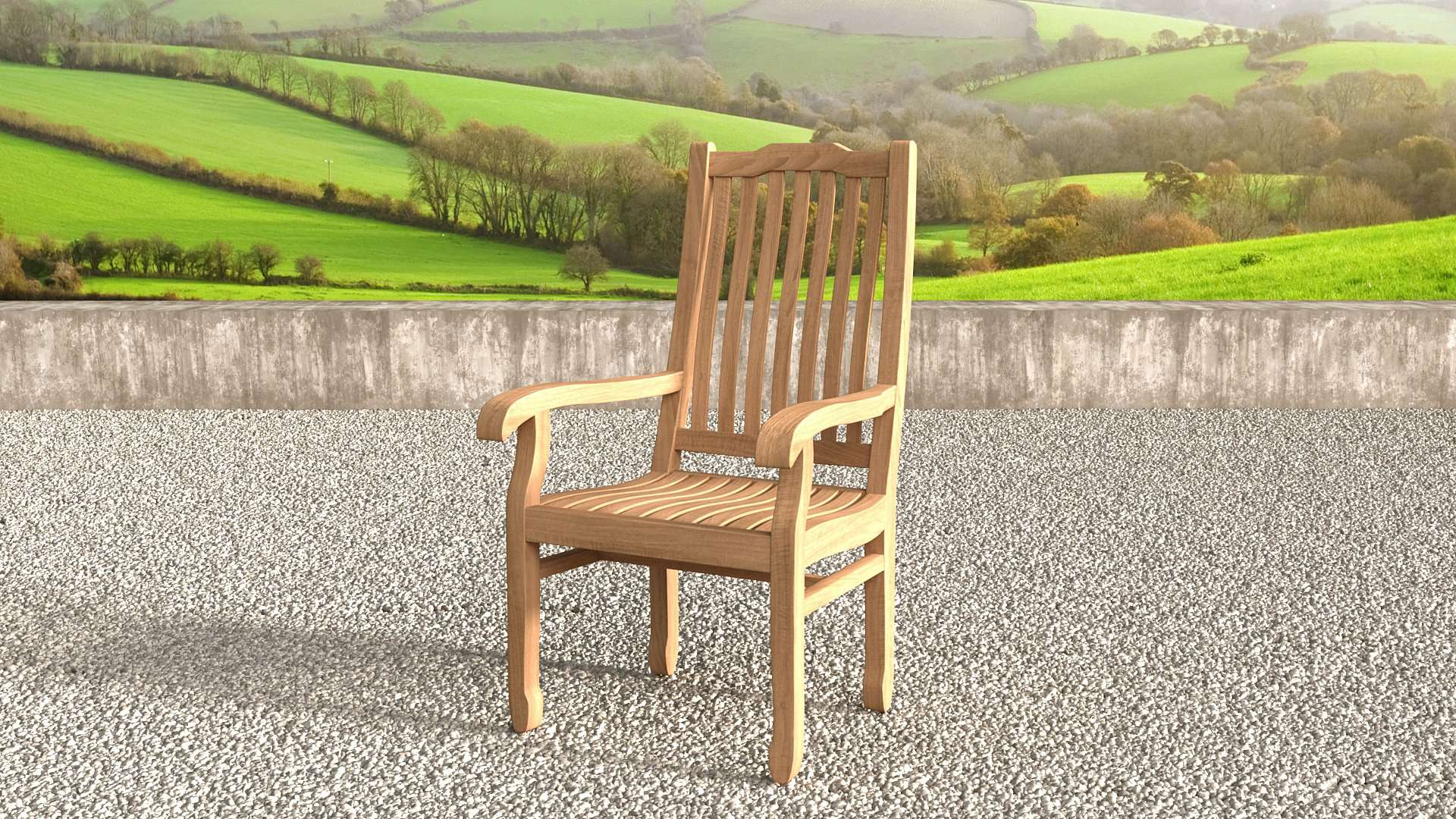 Kensington Teak Garden Carver Chair  - Chic Teak® | Luxury Teak Furniture