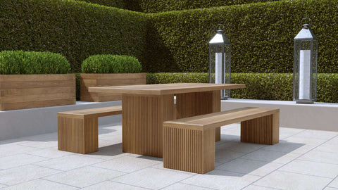 Mayfair Teak Table & Benches