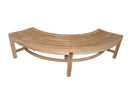 SALE - Curved Teak Backless Bench 150cm