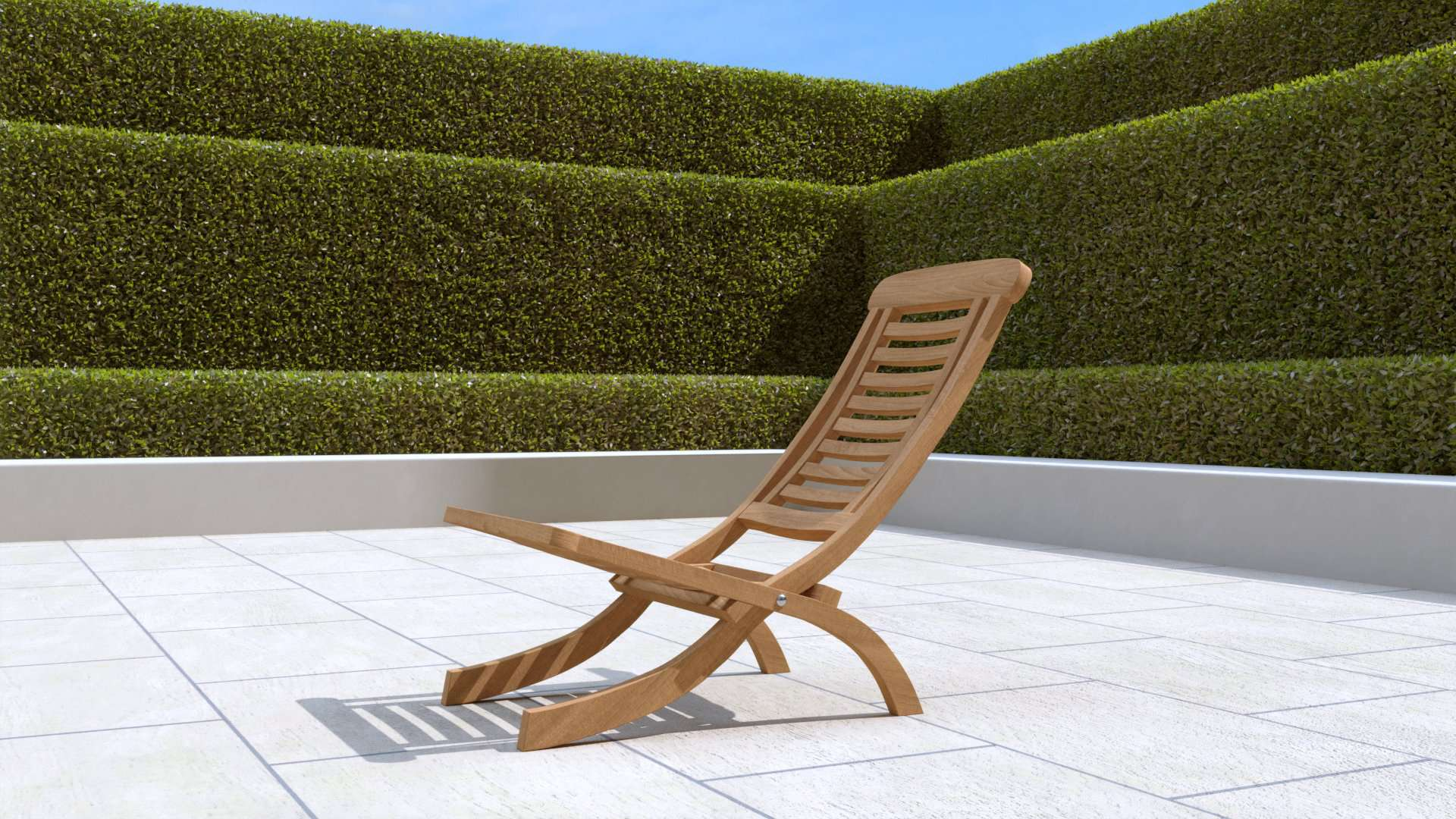 Lounge Folding Chair  - Chic Teak® | Luxury Teak Furniture