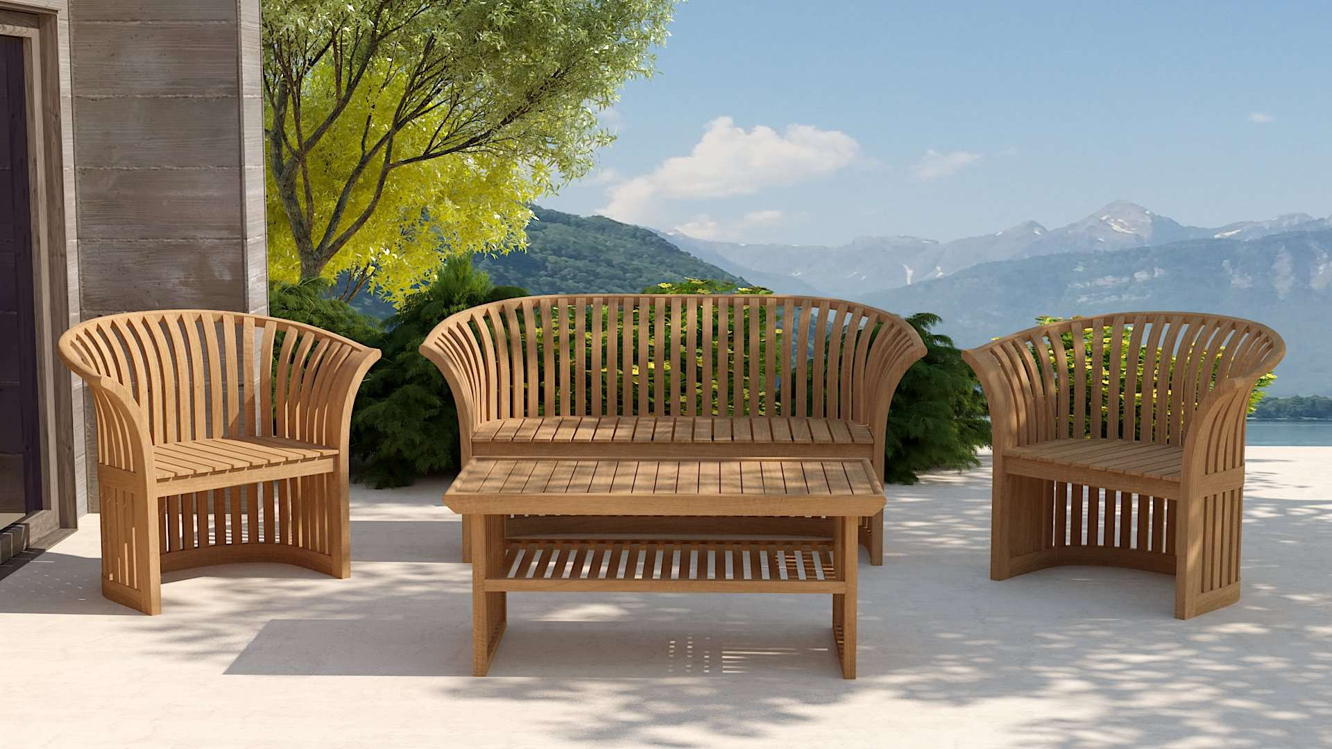 Conservatory Teak Sofa  - Chic Teak® | Luxury Teak Furniture