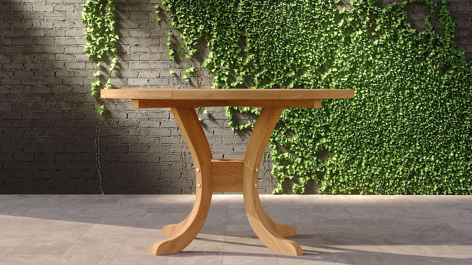 Garden Teak Pedestal Table 120cm (4-6 Seater)  - Chic Teak® | Luxury Teak Furniture