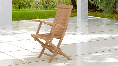 Lincoln Folding Teak Carver Chair