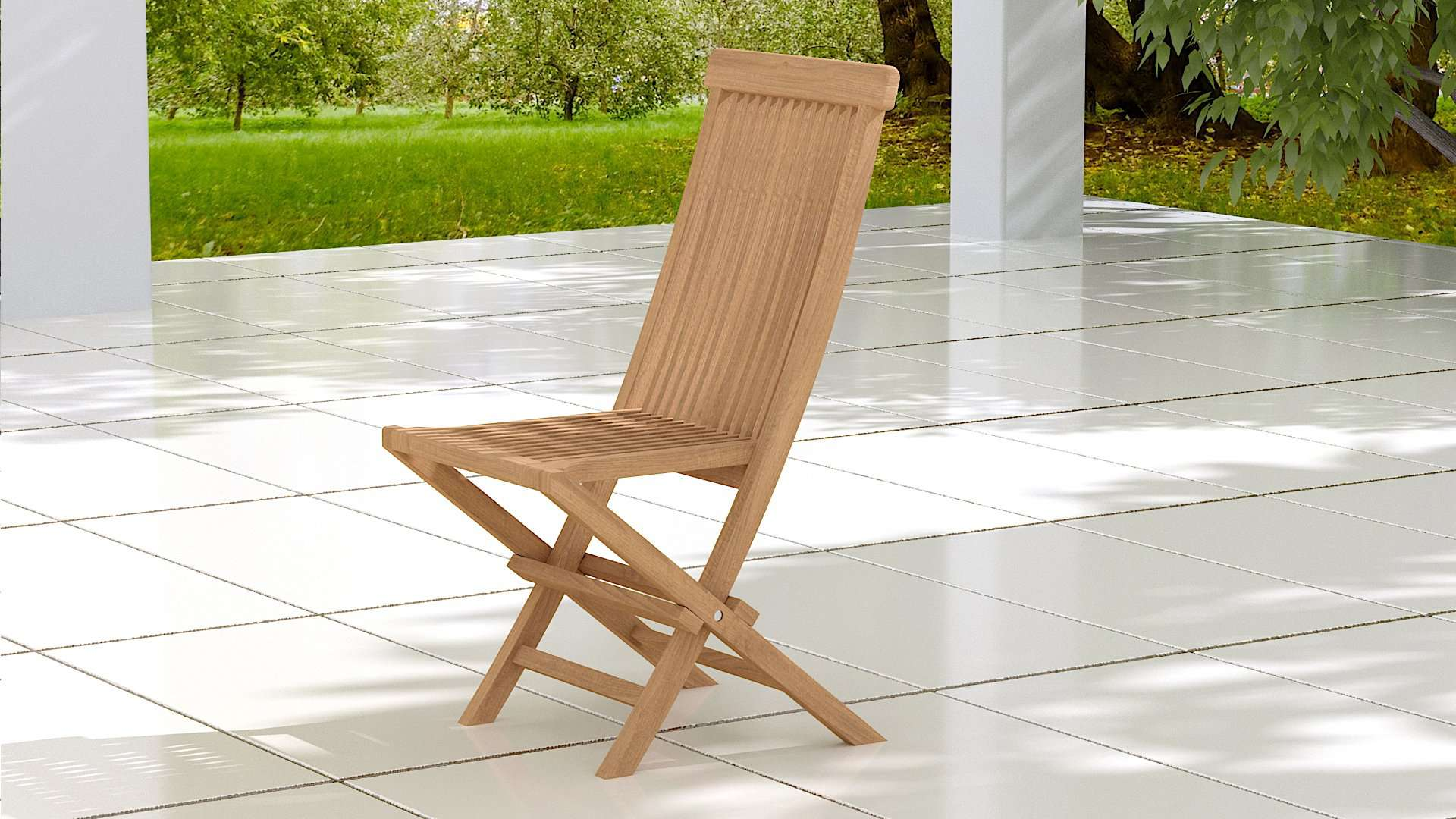 Lincoln Folding Teak Dining Chair  - Chic Teak® | Luxury Teak Furniture