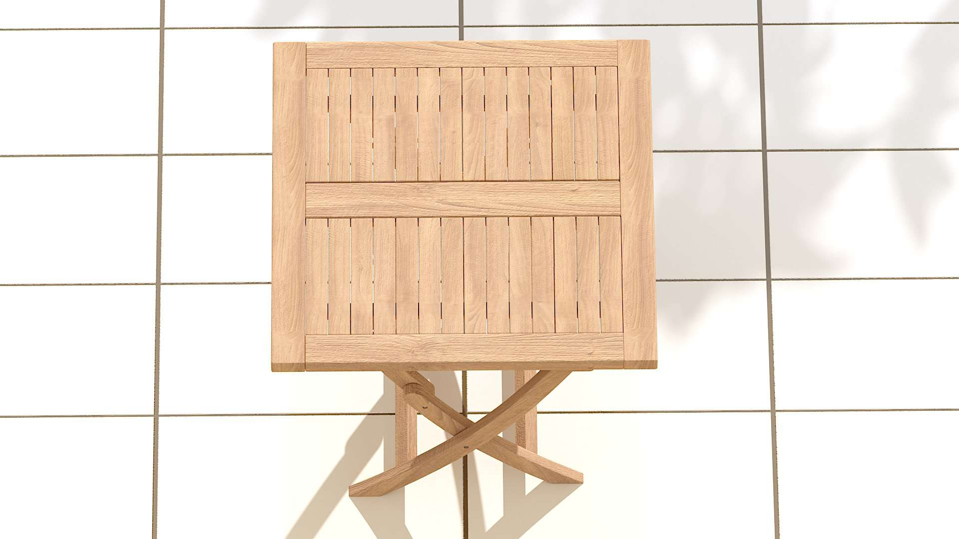 Square Folding Teak Garden Table  - Chic Teak® | Luxury Teak Furniture