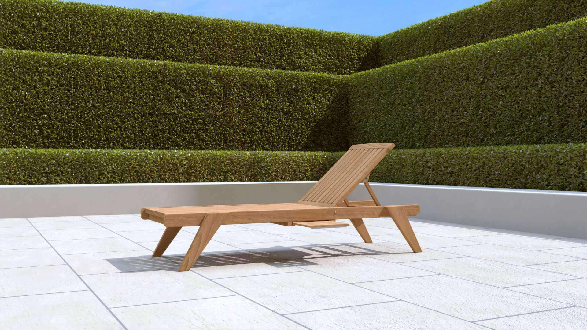 Teak Sun Lounger Stackable | Chic Teak®