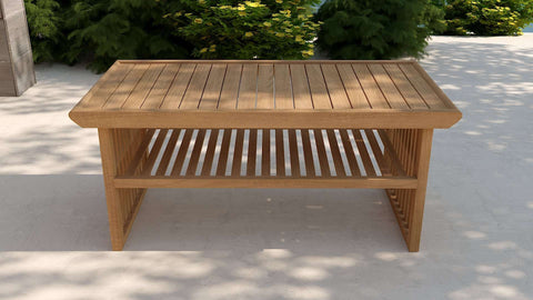 Teak Coffee Table 58x109cm
