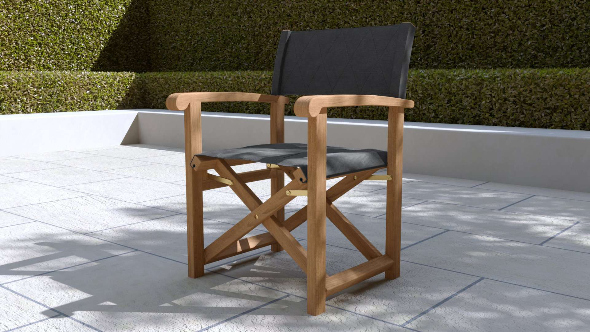 Directors Chair Graphite  - Chic Teak® | Luxury Teak Furniture