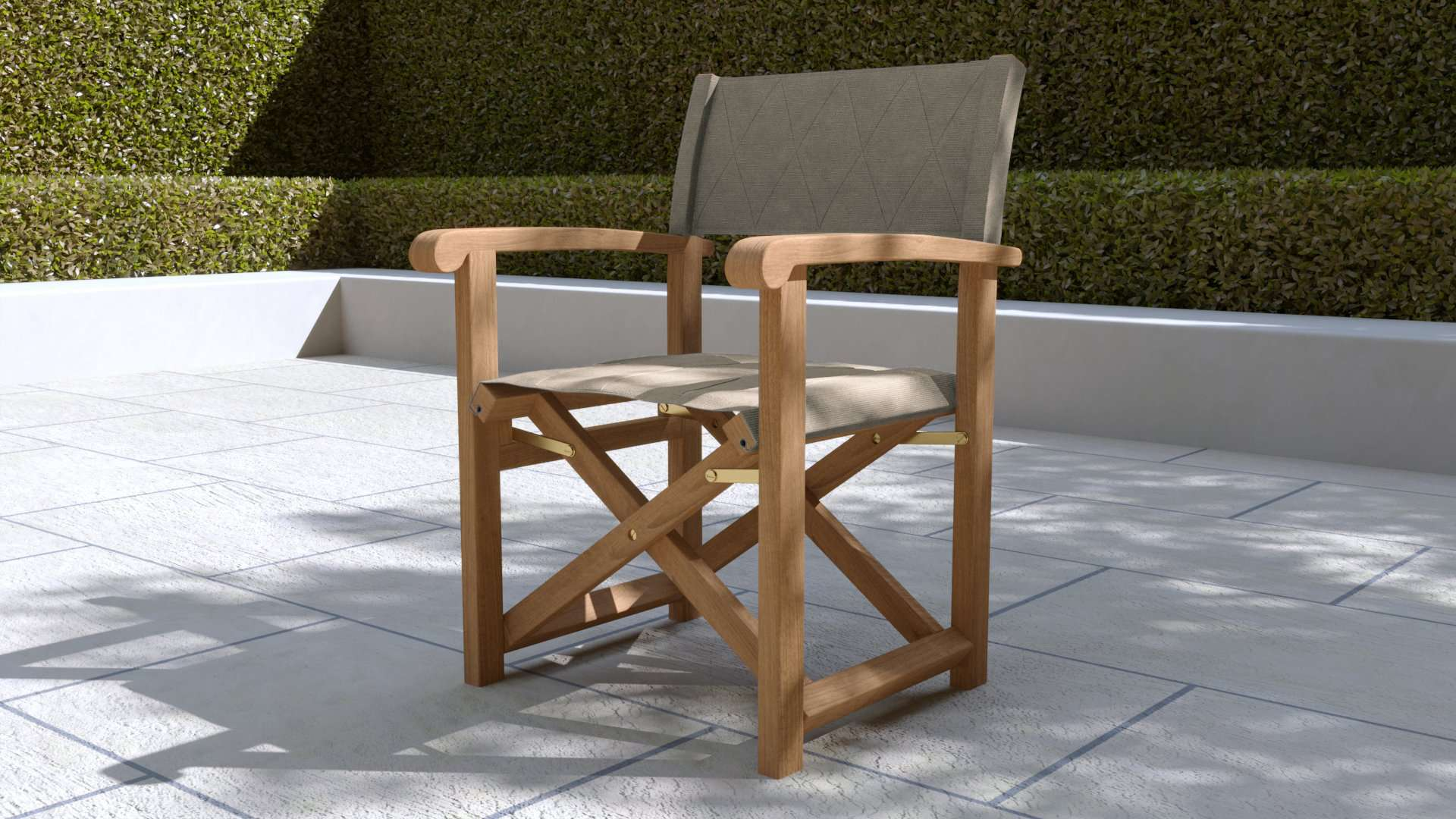 Directors Chair Ecru  - Chic Teak® | Luxury Teak Furniture