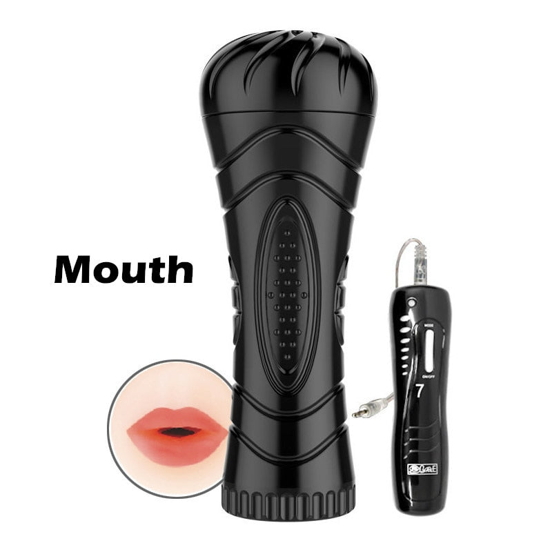 3 Types Big Size Masturbation Cup For Men 7 Speed Vibrating Mouth Anal Vagina Male Masturbators Sex Products Sex Toy Sexcups
