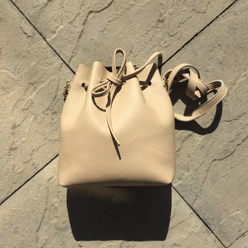 Cream Bucket Bag