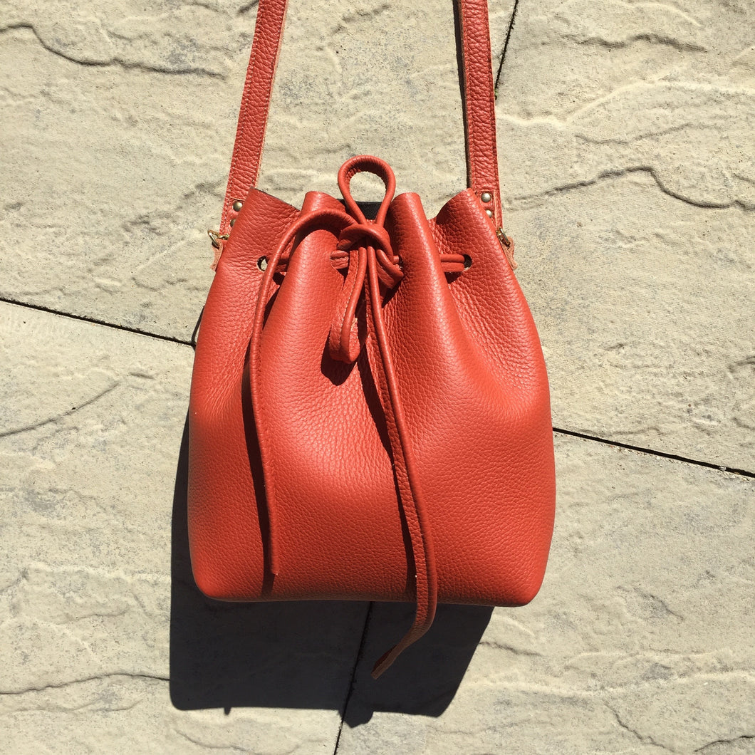Burnt Orange Bucket Bag