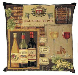 Decorative Wine Belgian Tapestry Cushion Cover 18x18""