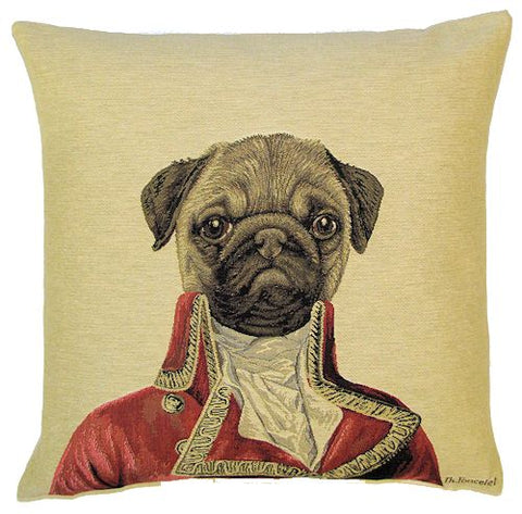 Thierry Poncelet Pug Cushion Cover - 18x18""
