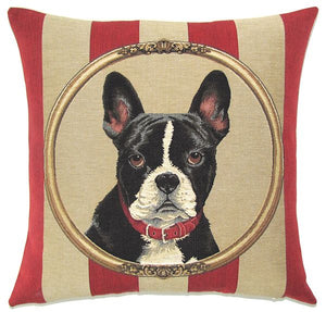 "French Bulldog Cushion Cover - 18x18"" Belgian Tapestry Pillow"