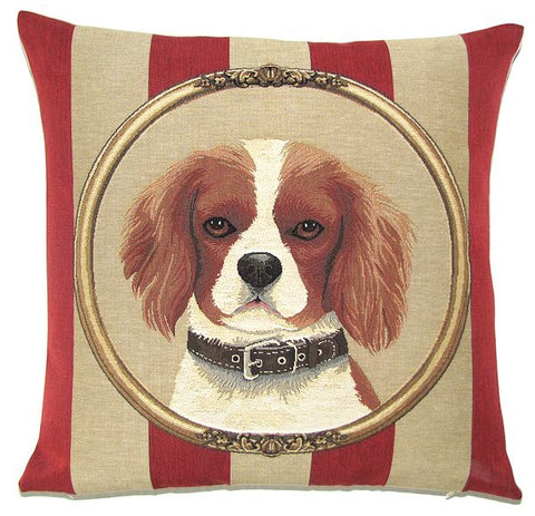King Charles Cavalier Belgian Tapestry Cushion Cover - 18x18""