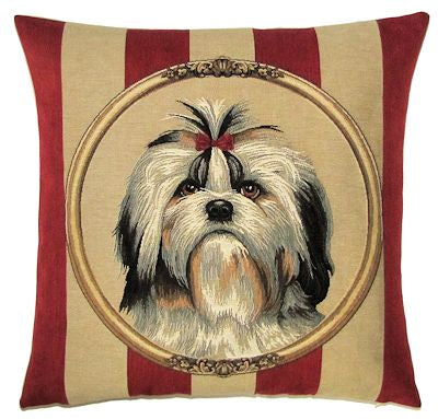 Shih Tzu Belgian Tapestry Cushion Cover - 18x18""