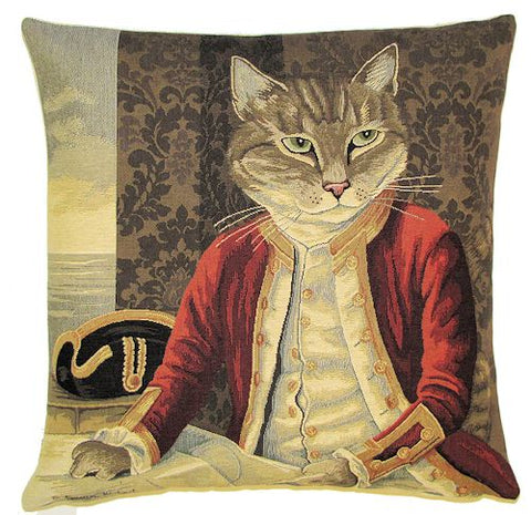 Lord Nelson Jacquard Woven Gobelin Tapestry Cushion Cover - 18x18""