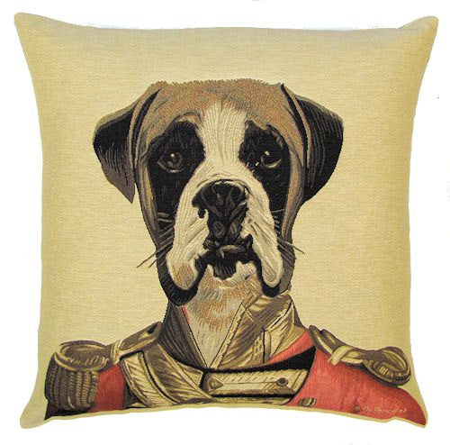 "Boxer Cushion Cover - 18x18"" Belgian Tapestry Pillow"