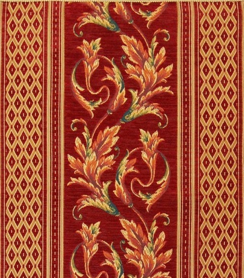 Belgian Tapestry Table Runner with Ornamental Acanthus Rococo Style