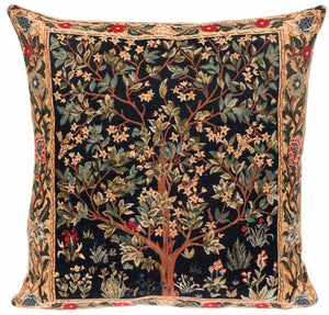 "TREE OF LIFE by William Morris Belgian Tapestry Cushion Cover 18""x18"""