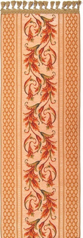 Belgian Tapestry Table Runner w/ Ornamental Acanthus Rococo Style 45 x 260 cm