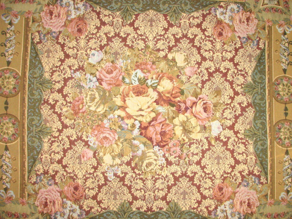 Jacquard Woven Tapestry Table Throw