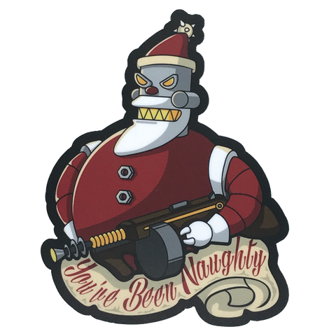 Santa Sticker 3-Pack