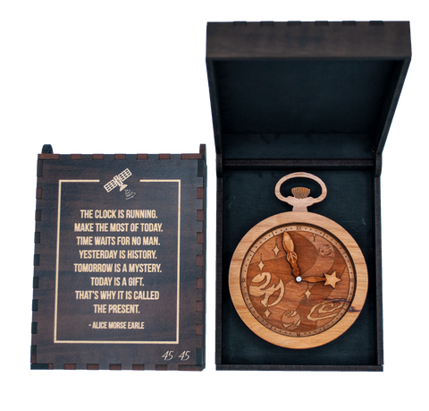 Artisan Pocket Watch with Wood Box