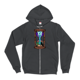 Melting Moon Hourglass v2 Zip-Up Hoodie