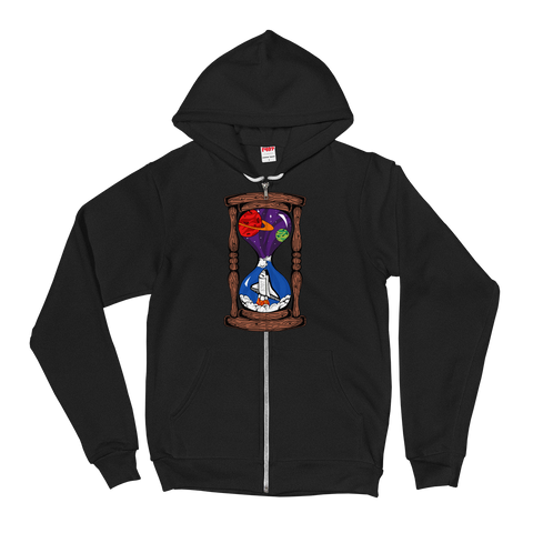 Space Hourglass v1 Zip-Up Hoodie