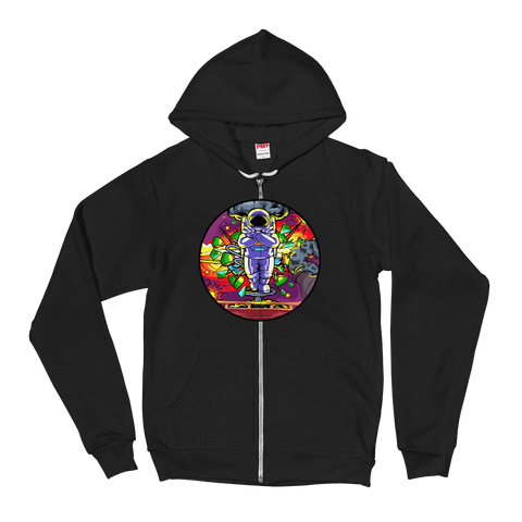 Lonely Astronaut v5 Zip-Up Hoodie